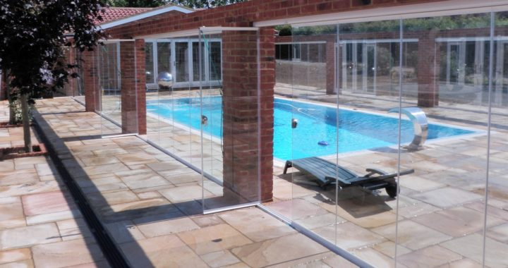 swimming pool area retractable doors